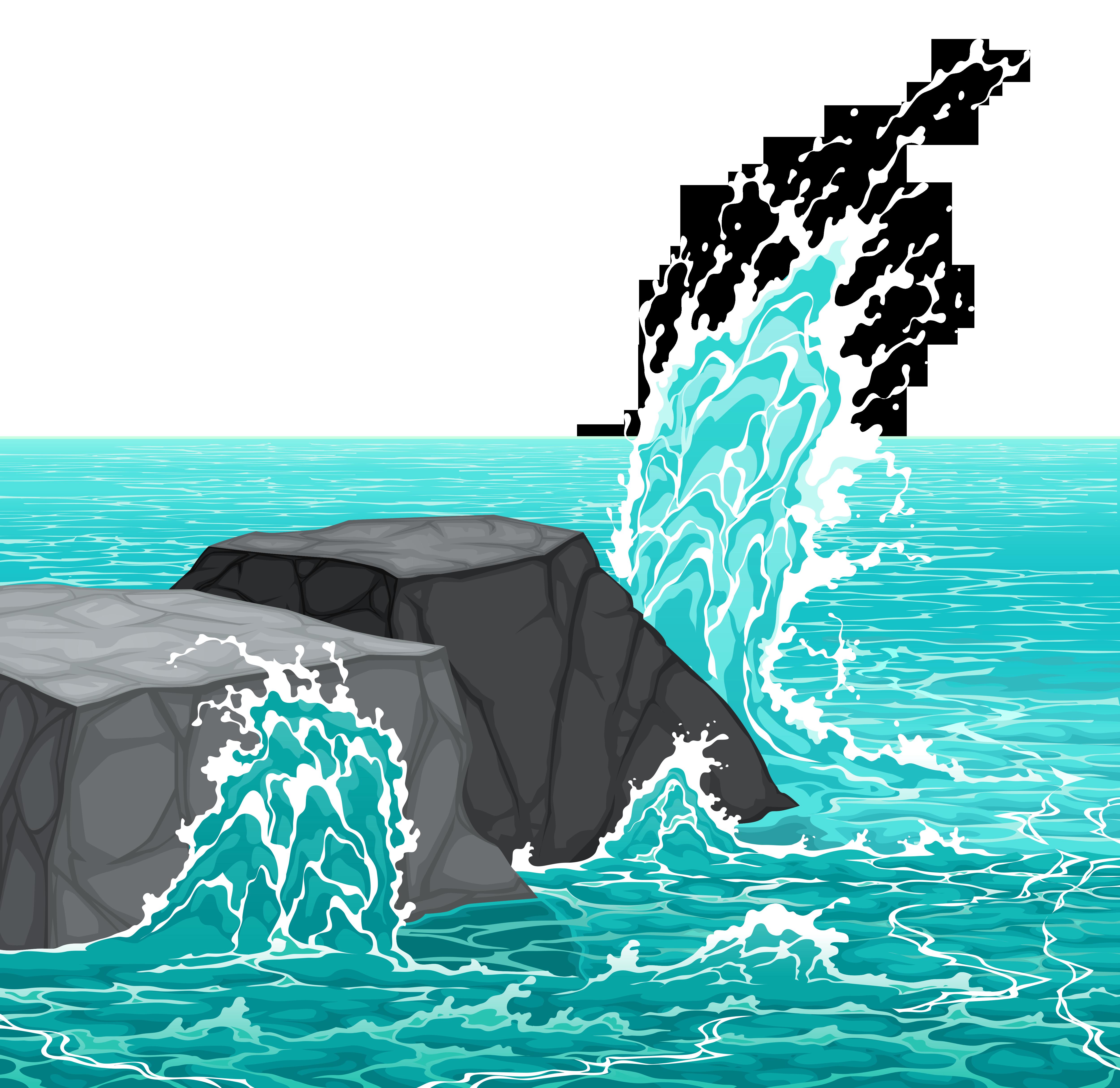 Sea clipart 5000x4856 Sea Rocks Resolution Clipart