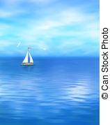 Sea clipart blue sea #10
