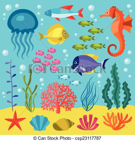 Sea clipart objects #4
