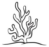 Sea Grass clipart black and white #12