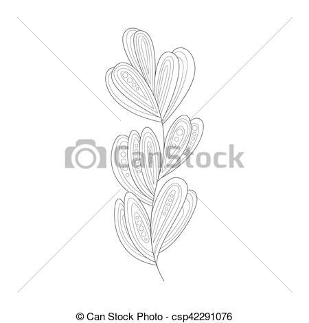 Sea Grass clipart black and white #15