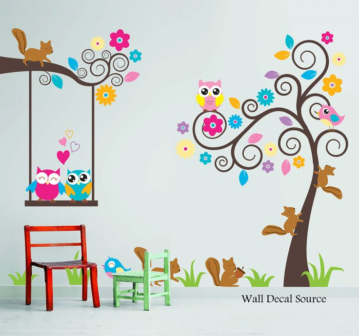 Bedroom clipart room wall Cute Swirly Wall Decals Kids