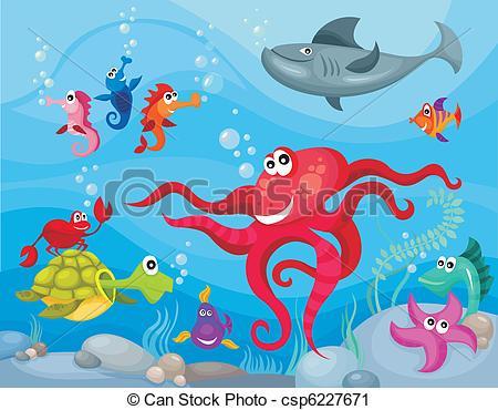 Marine Life clipart Art Clip Life Sea life