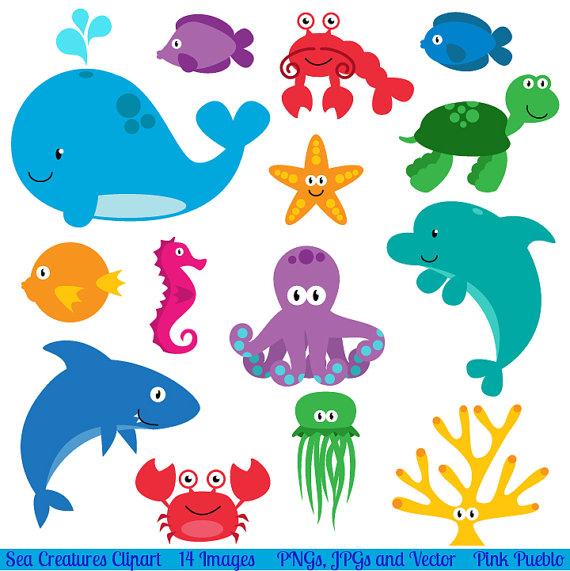 Sea Life clipart Clipart Sea printables Creatures Sea