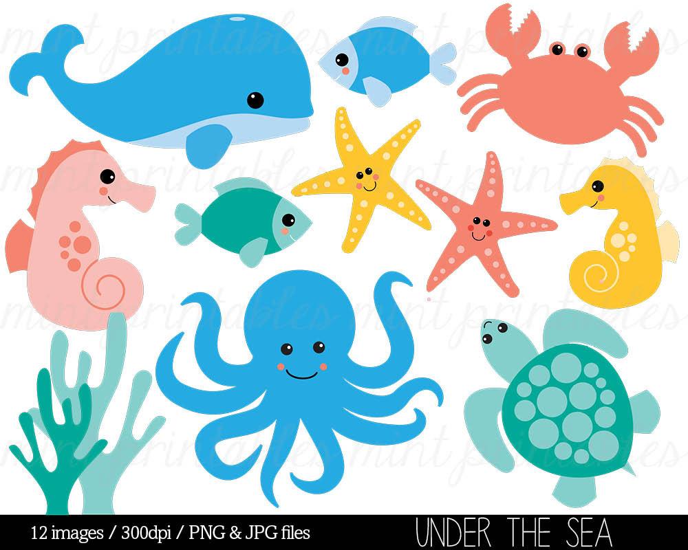 Moving clipart sea creature #8