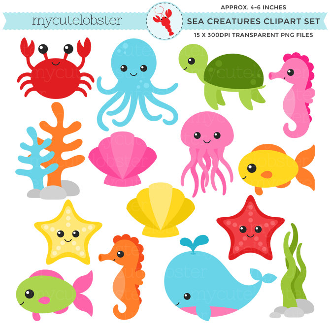 Marine Life clipart cartoon Sea Google clipart life collection
