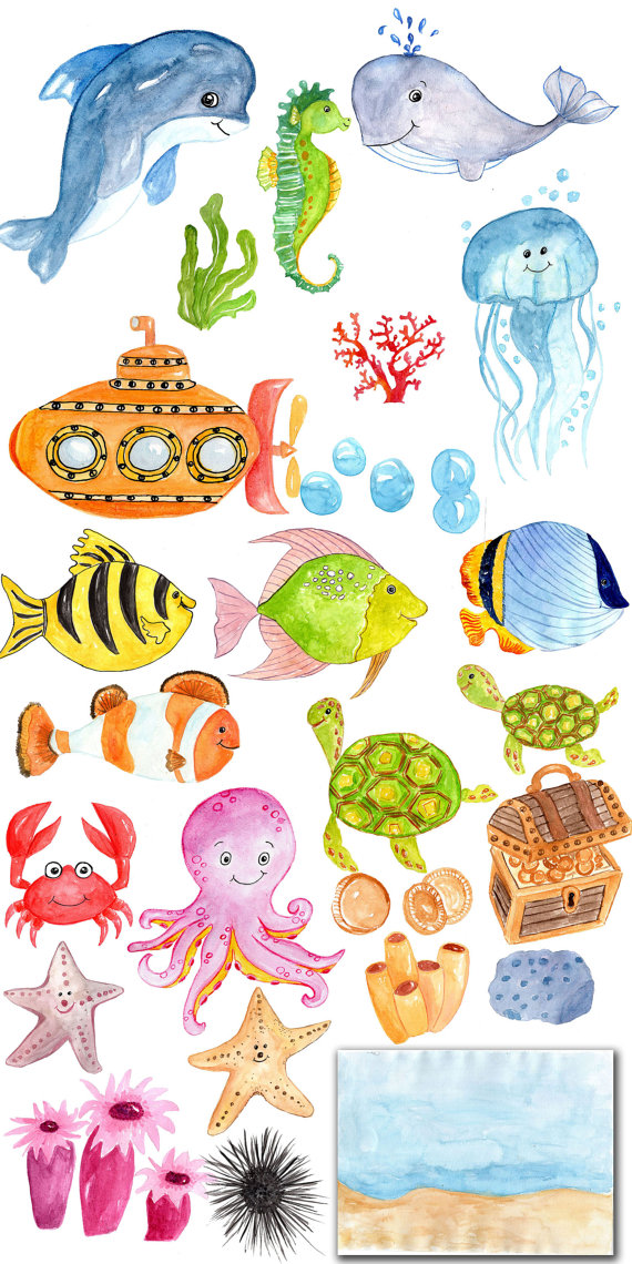 Sea Life clipart baby shower whale #9