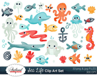Sea Life clipart baby shower whale #6