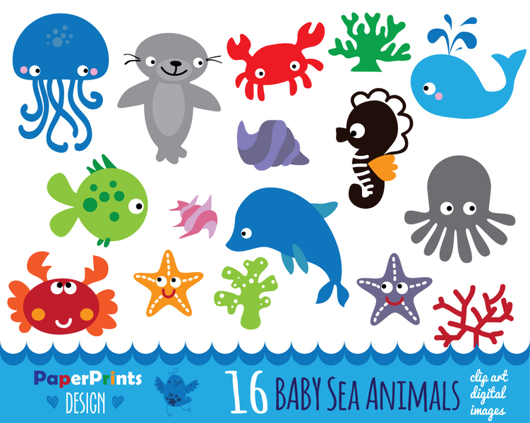 Sea Life clipart baby shower whale #10