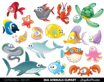 Marine clipart ocean animal #4