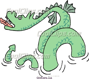 Sea Monster clipart #4