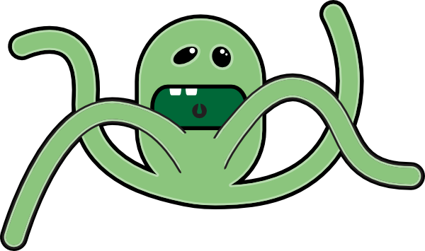 Sea Monster clipart #11