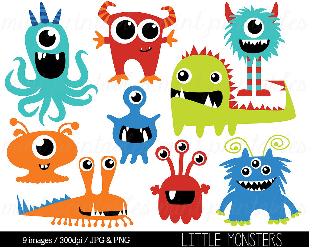 Monster clipart cute monster Monsters Cute Monsters Art Cute