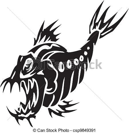 Sea Monster clipart draw Illustration of Vinyl Clip ready