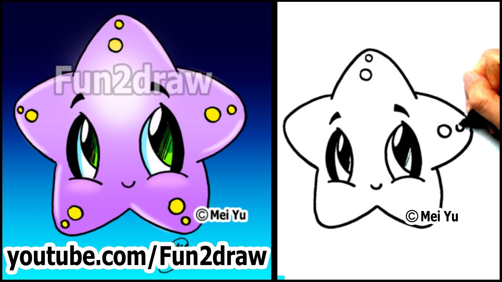 Drawn star cute Drawing Drawing a Lesson) Starfish