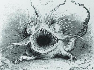 Sea Monster clipart old world Best sea on Vintage images
