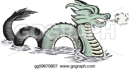 Sea Monster clipart old world Serpent gg59670807 dragon Vector Clipart