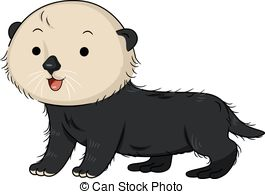 Otter clipart cute A EPS Sea Cute Illustration