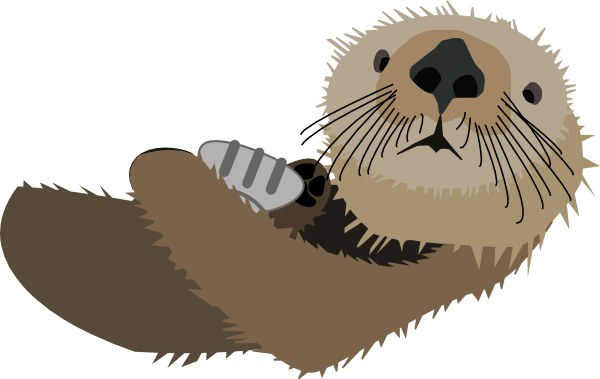 Brown clipart otter Clipart Sea Shell Otter Art