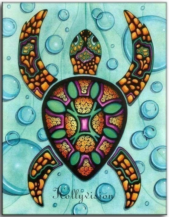 Sea Turtle clipart abstract #15