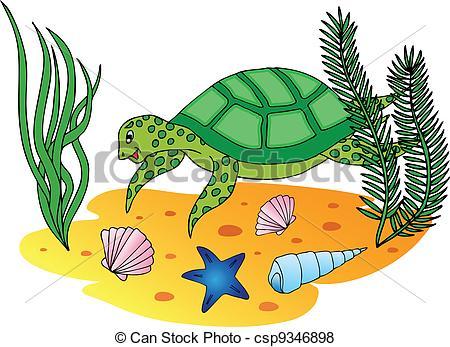 Sea Turtle clipart aquatic #10