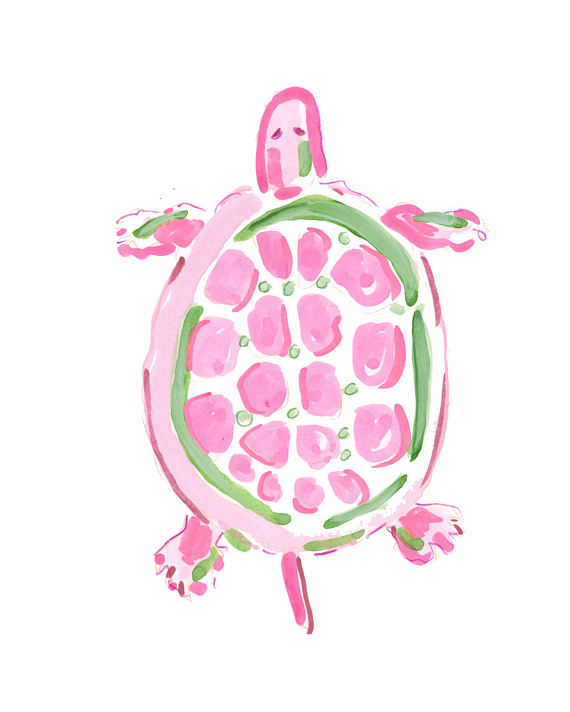 Sea Turtle clipart pink #9