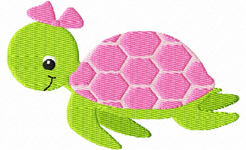 Sea Turtle clipart pink #10
