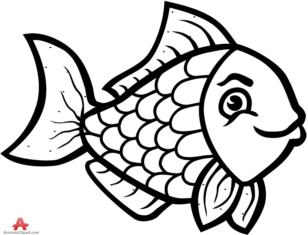 Beautiful clipart outline Art and clip fish Seafood