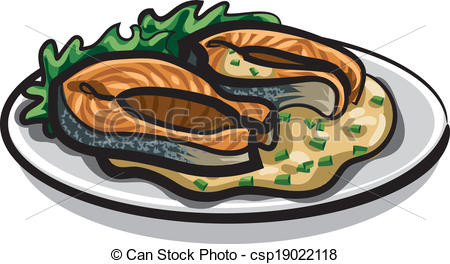 Salmon clipart cooked salmon #15