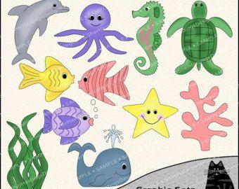 Seafood clipart under sea Designs Pinterest fish 76 Popular