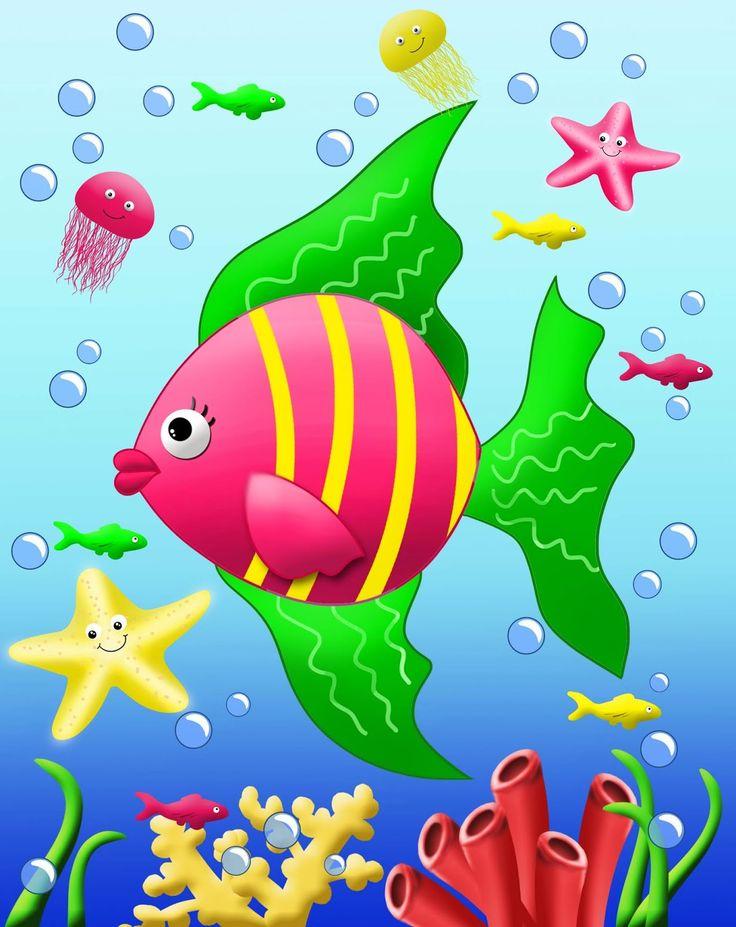 Ocean clipart easy Peces 325 best Pinterest Peces