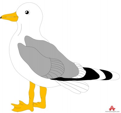 Seagull clipart #30042 of outline Seagull clipart