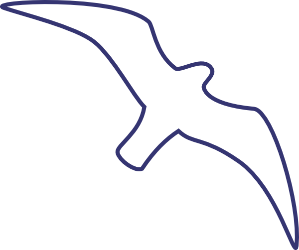 Seagull clipart outline #10