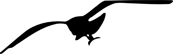 Black clipart seagull Seagull svg #18 svg drawings