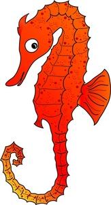 Orange clipart seahorse Clipart Free Seahorse Seahorse Art