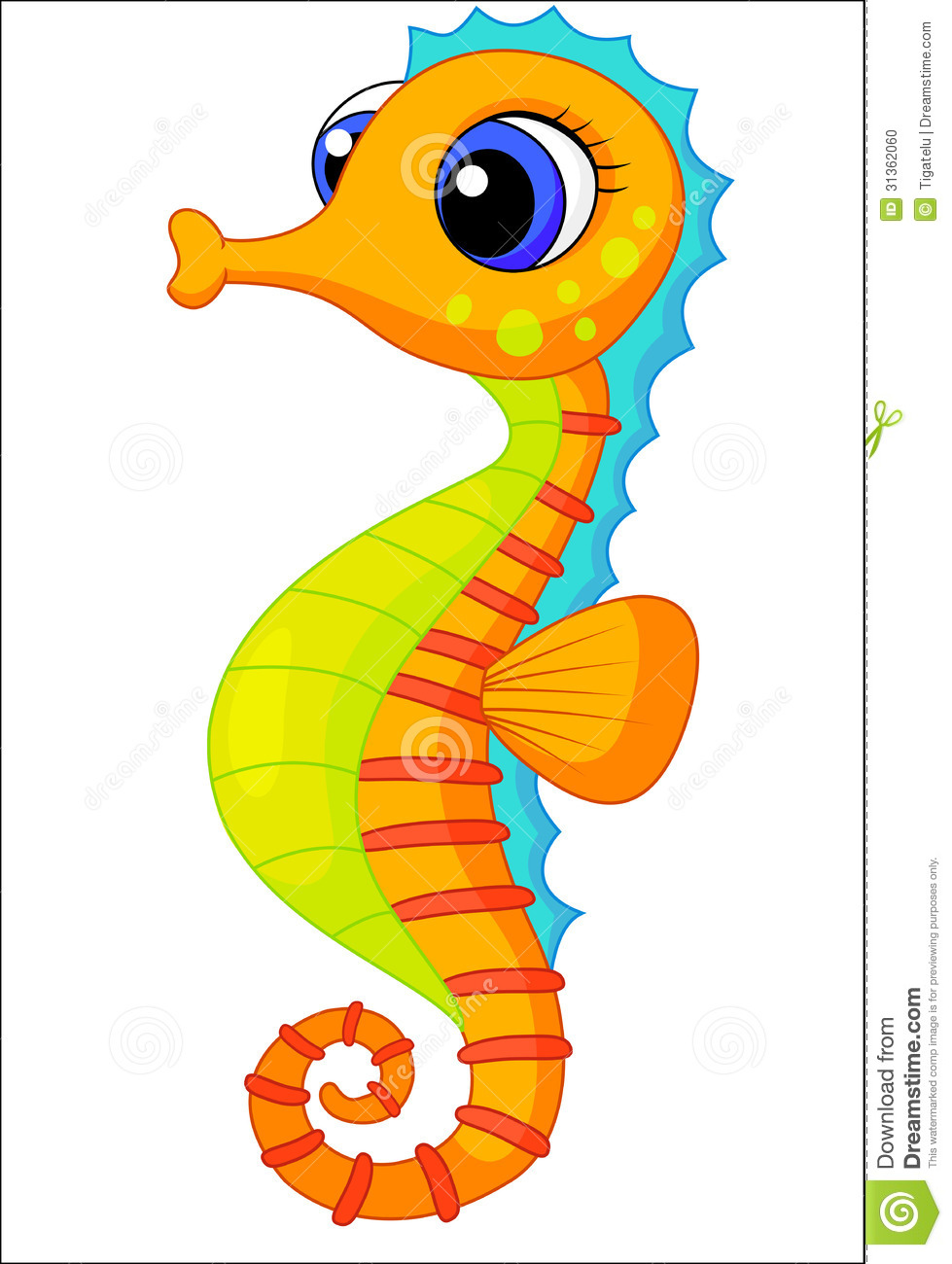 Seahorse clipart #7