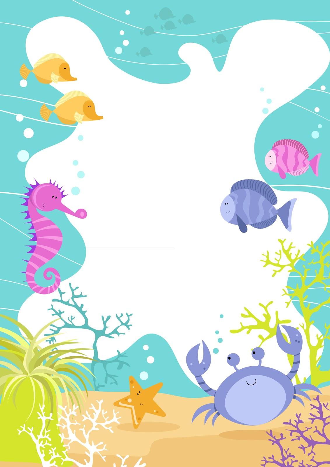Seahorse clipart border #7