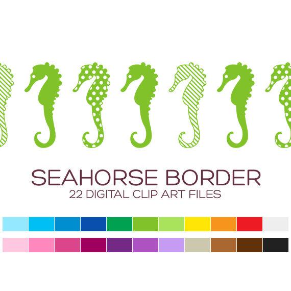 Seahorse clipart border #5