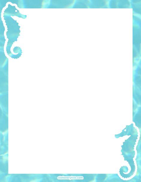 Seahorse clipart border #8