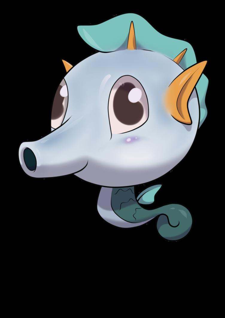 Seahorse clipart chibi #7