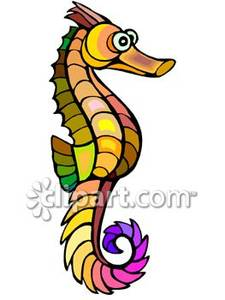 Seahorse clipart colorful #5