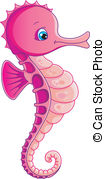 Seahorse clipart colorful #7