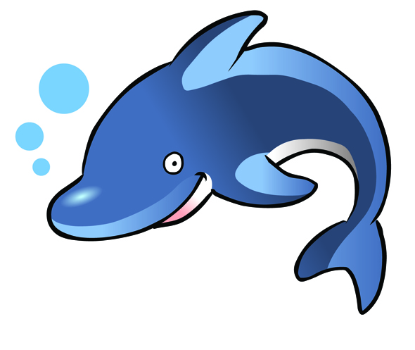 Seahorse clipart cute baby dolphin #15