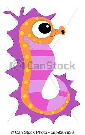 Seahorse clipart cute pink #5
