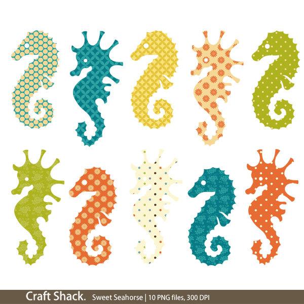 Seahorse clipart elegant #5
