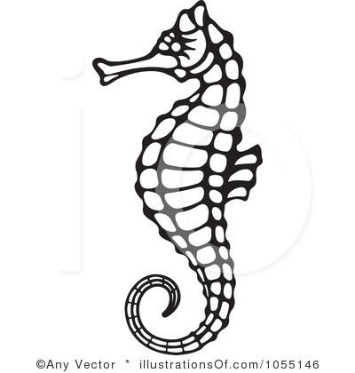 Seahorse clipart vector #4