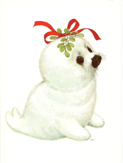 Seal clipart christmas #8