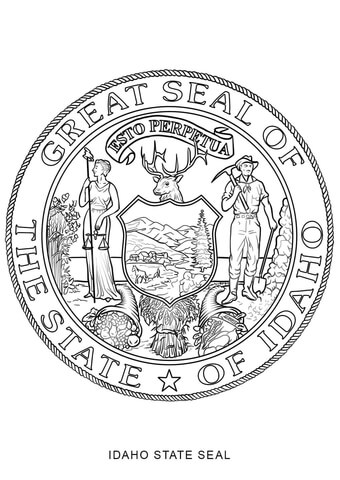Seal clipart coloring page #8
