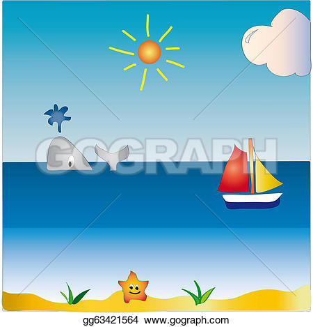 Seascape clipart Illustration Illustrations  gg63421564 Clipart