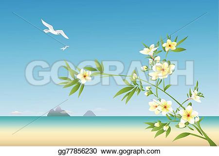 Seascape clipart hawaiian beach #2